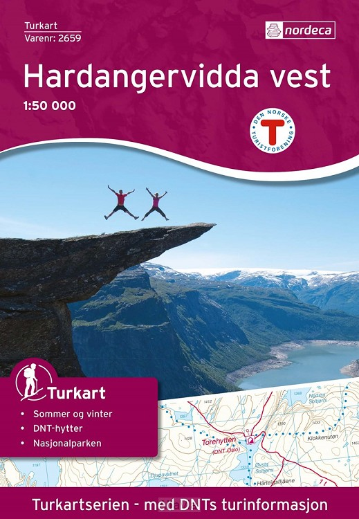 Hardangervidda west 2659 turkart1/50000