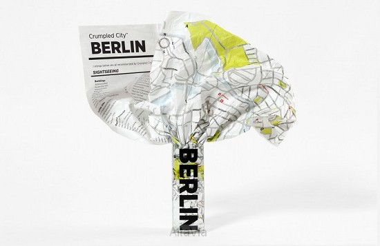 berlin crumpled city map